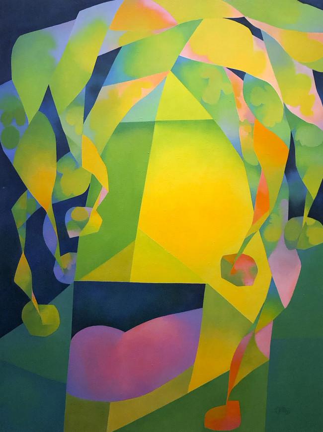 Sans Titre (Figure abstraite d'un bouffon)- Untitled (Abstract Jester Figure)