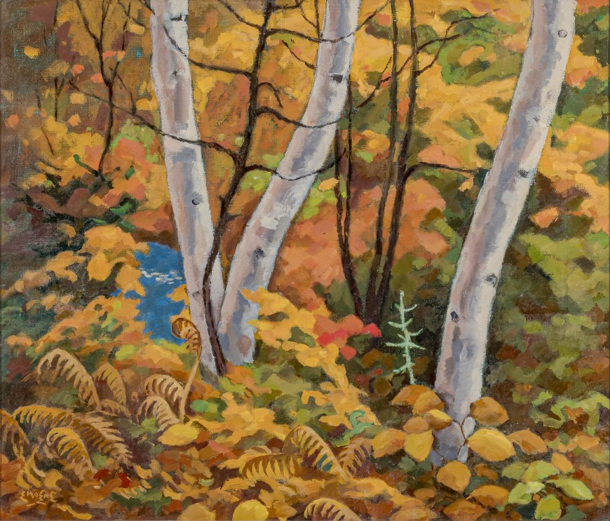 "<span class=""artist""><strong>Edwin Holgate</strong></span>, <span class=""title""><em>Autumn Tangle</em>, 1964</span>"