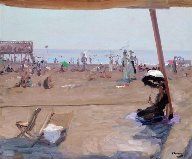 "<h3 class=""artist"">SIR JOHN LAVERY, R.A.</h3><p class=""cms_gray""><i>Bathing, Lido, Venice</i>, 1912</p>"