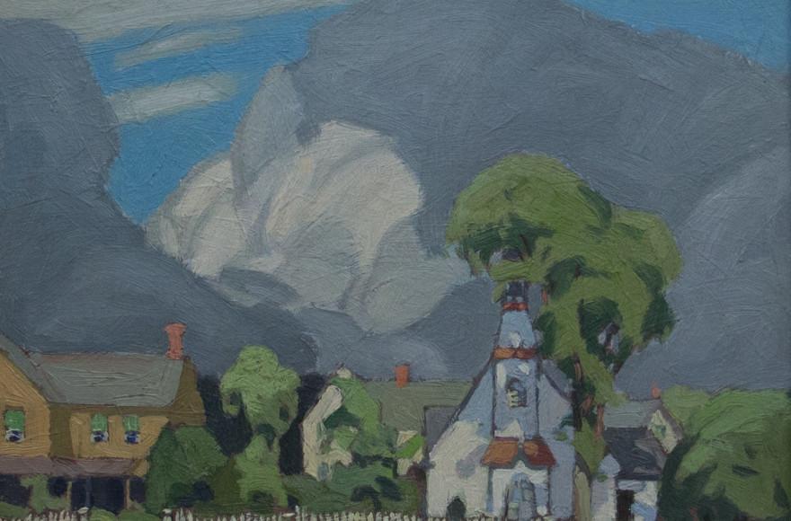 Alfred J. Casson, LL.D., A.R.C. (1898-1992) Rosseau, 1926, Huile sur panel, 9 3/8 x 11 1/4 po.