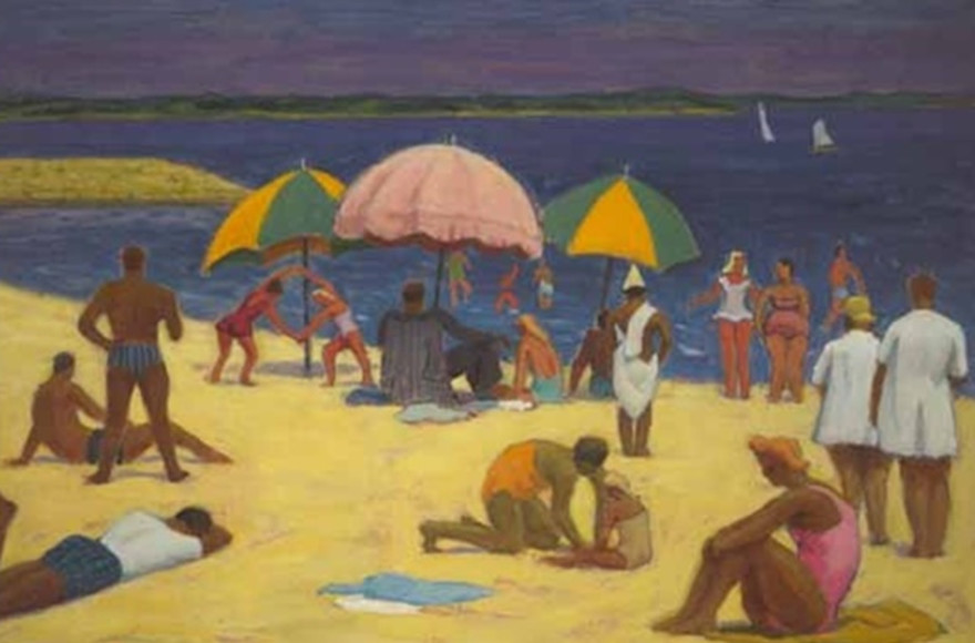 Among the paintings at McMichael once transacted by the Klinkhoffs is John Lyman's, The Beach, St-Jean-de-Luz.