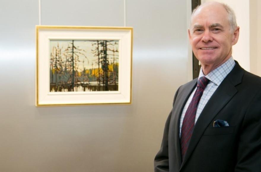 Alan Klinkhoff with Beaver Swamp by Lawren Harris
