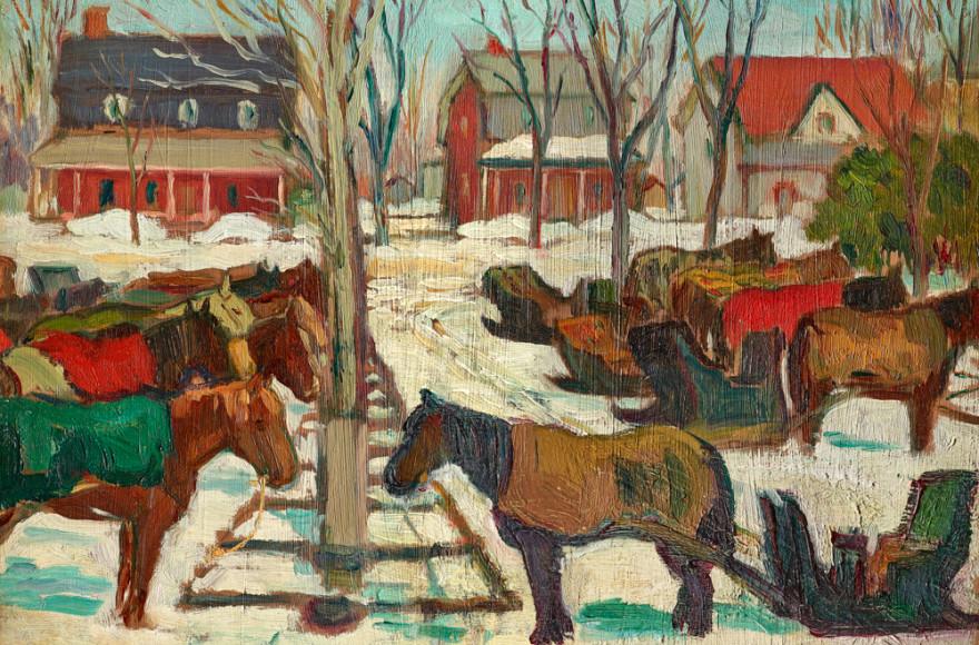 Kathleen M. Morris   Hitching Posts, Berthierville, Quebec, circa 1925