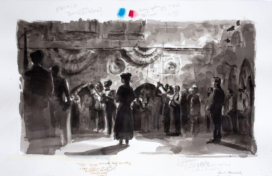 Confetti Ghost Series (French of American Tricolore)