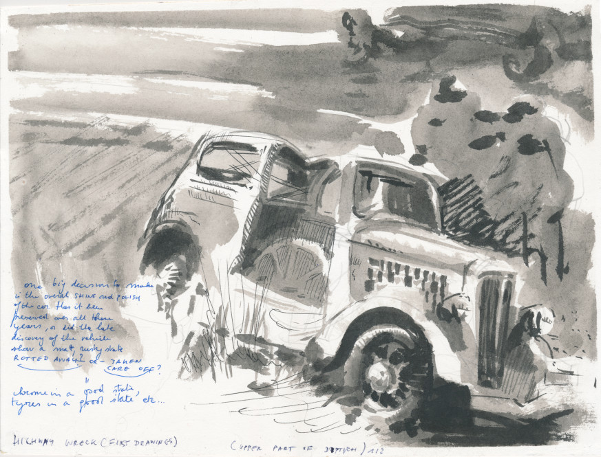 Highway Wreck drawing (First Drawings)