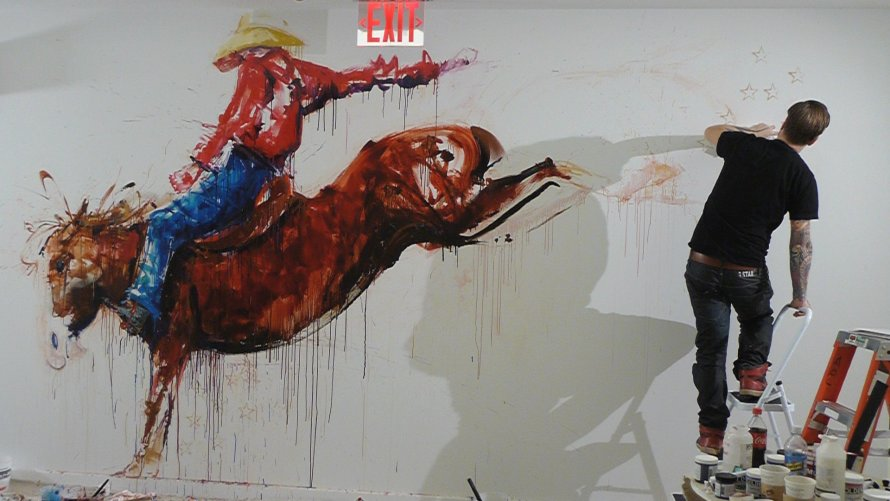 Aol New York Mural, Rodeo Rider - A photo reportage