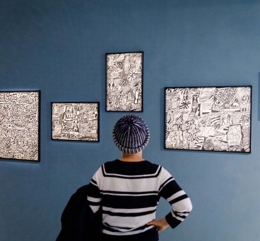 'Jean Dubuffet: Brutal Beauty' Installation view Barbican Art Gallery, 17 May – 22 August 2021 ©Tristan Fewings / Getty Images