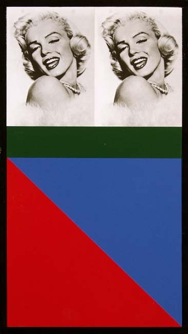 <p>Peter Blake, Marilyn Monroe. Red & Blue, 1990, photograph and enamel paint on wood, </p><p>15 3/4 x 8 5/8 in/ 40 x 22 cm</p>