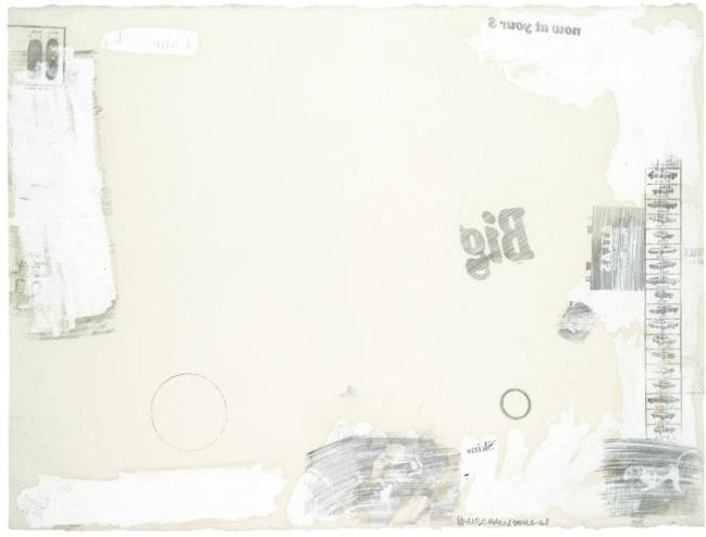 <p>Robert Rauschenberg, Bryce Baby, 1968,solvent transfer, oil and pencil on paper,</p><p>22 3/4 x 29 3/4 in/57.5 x 75.7 cm</p>
