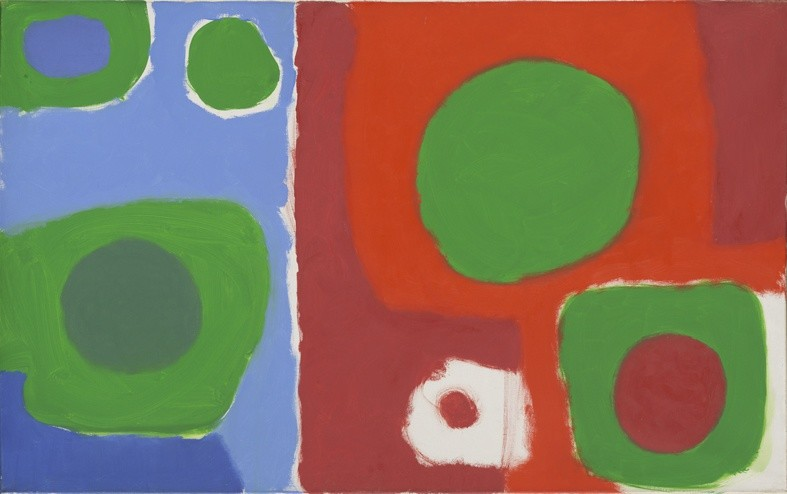 <p>Patrick Heron,Soft Green in Reds and Blues : December 1962, 1962, oil on canvas,</p><p>30 x 48 in/76.2 x 121.9 cm</p>