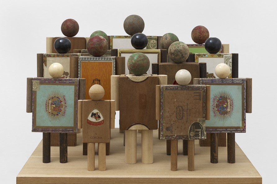 <p>Peter Blake, Crowd, 2014,cigar boxes, wood and found objects,</p><p>20 1/4 x 29 3/4 x 25 1/4 in /51.5 x 75.5 x 64 cm</p>