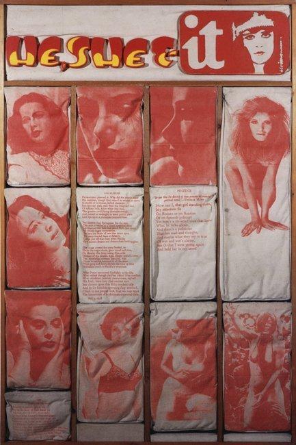 <strong>Joe Tilson</strong>, <em>Page 19: He, She & It</em>, 1969-70