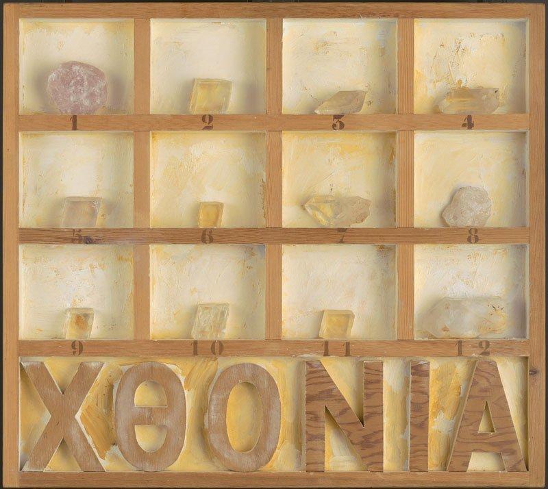 <strong>Joe Tilson</strong>, <em>Chthonic Box, Crystal, II</em>, 1982