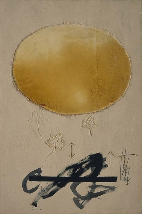 <strong>Antoni Tàpies</strong>, <em>Oval and Leaves / Oval i fulles</em>, 2003