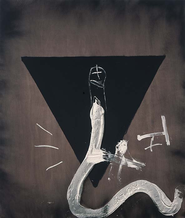 <strong>Antoni Tàpies</strong>, <em>Triangle and snake / Triangle i serp</em>, 2005