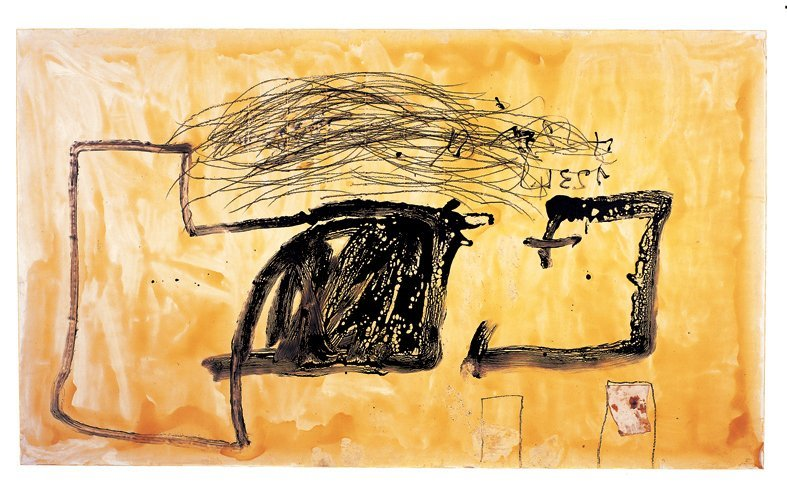 <strong>Antoni Tàpies</strong>, <em>Fons de vernis (Varnish background)</em>, 1989
