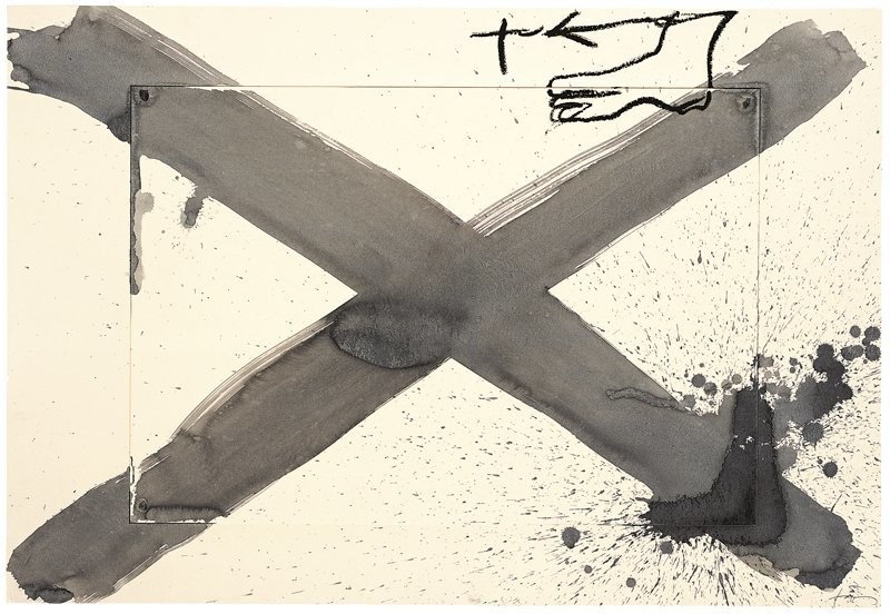 <strong>Antoni Tàpies</strong>, <em>X grisa (Grey X)</em>, 1996