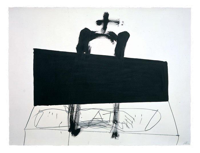 <strong>Antoni Tàpies</strong>, <em>Quadrilàter negre (Black square)</em>, 1999