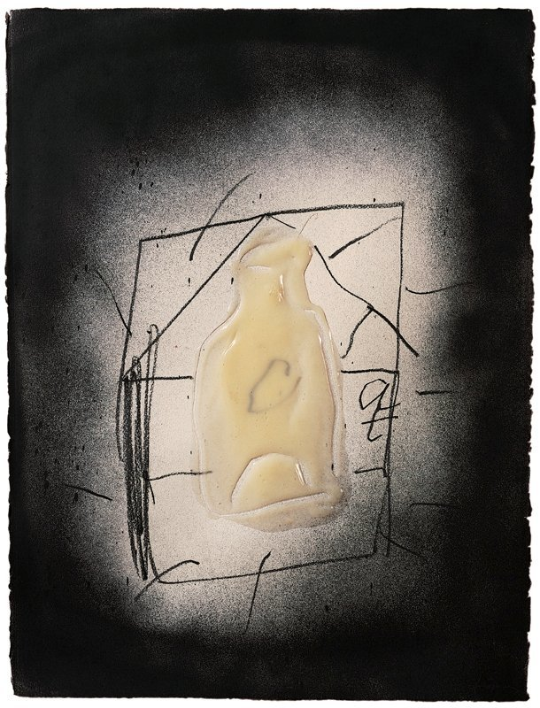 <strong>Antoni Tàpies</strong>, <em>Serie Làtex XI. Ampolla (Latex series XI. Bottle)</em>, 1999