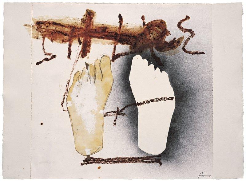 <strong>Antoni Tàpies</strong>, <em>Dos peus / Two feet</em>, 2003