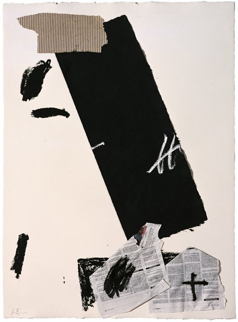 <strong>Antoni Tàpies</strong>, <em>Paper amb collage I (Paper and collage I)</em>, 2003