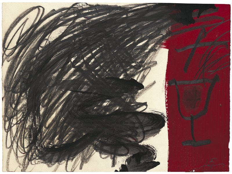 <strong>Antoni Tàpies</strong>, <em>Copa sobre vermell (Cup on red)</em>, 2004