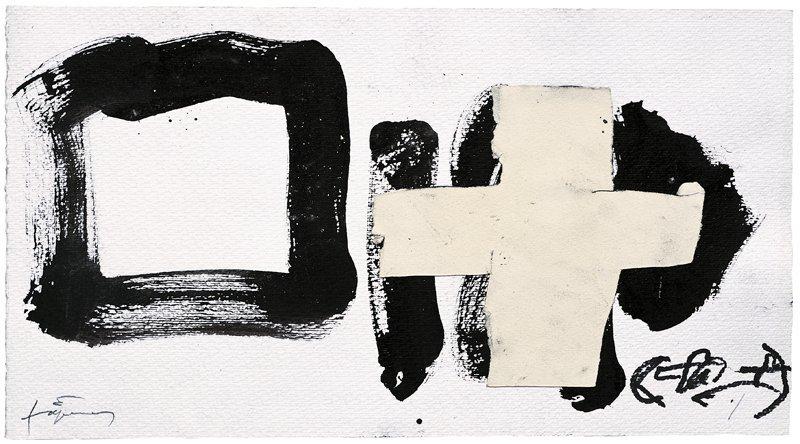 <strong>Antoni Tàpies</strong>, <em>Creu encolada (Glued cross)</em>, 2004