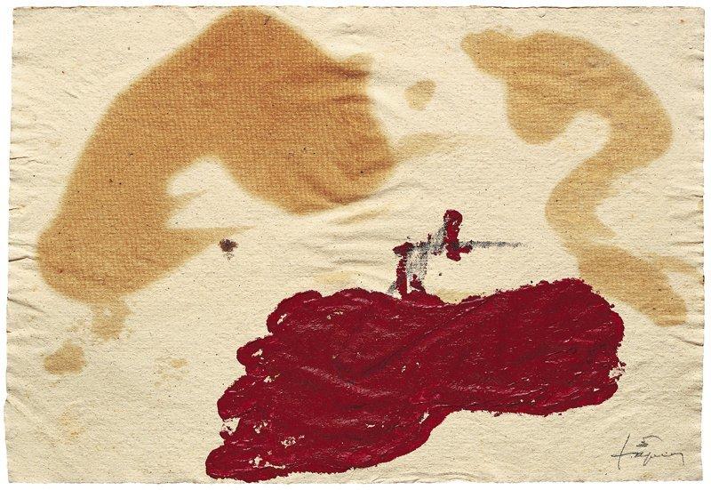 <strong>Antoni Tàpies</strong>, <em>Paper d'estrassa I (Brown paper I)</em>, 2004