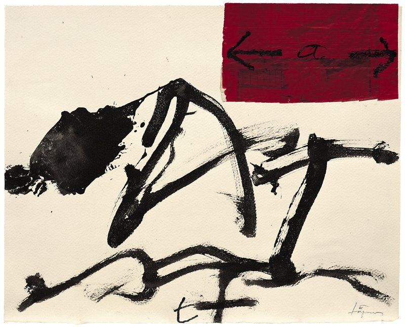 <strong>Antoni Tàpies</strong>, <em>Collage del paper vermell (Collage of red paper)</em>, 2004