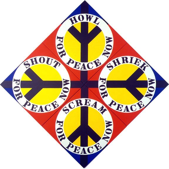 <strong>Robert Indiana</strong>, <em>Four Diamond Peace (Red)</em>, 2003