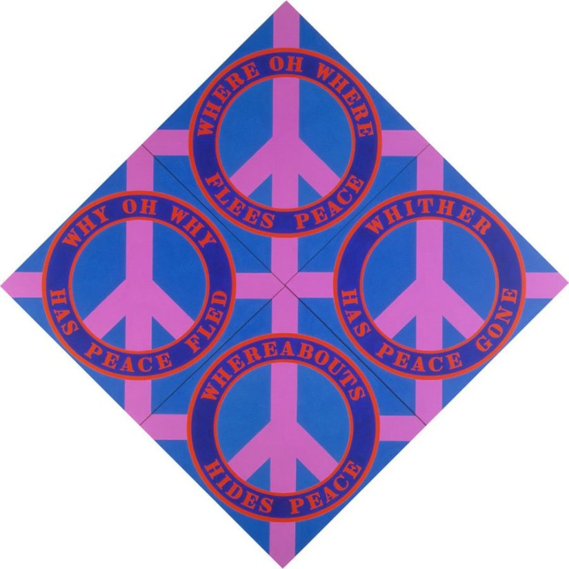 <strong>Robert Indiana</strong>, <em>The Four Diamond Peace Diamond</em>, 2003