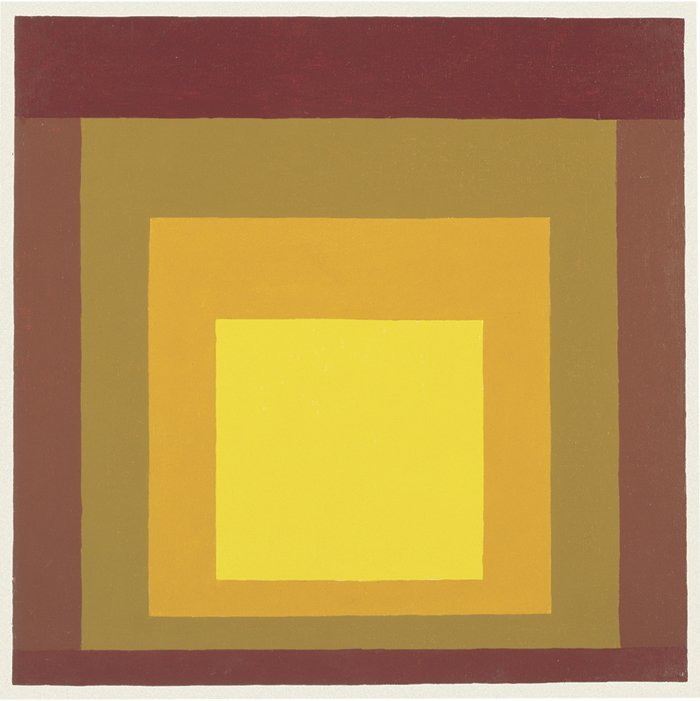 <strong>Josef Albers</strong>, <em>Variation on Homage to the Square</em>, 1961