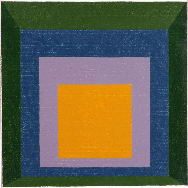 <strong>Josef Albers</strong>, <em>Variation on Homage to the Square</em>, 1959