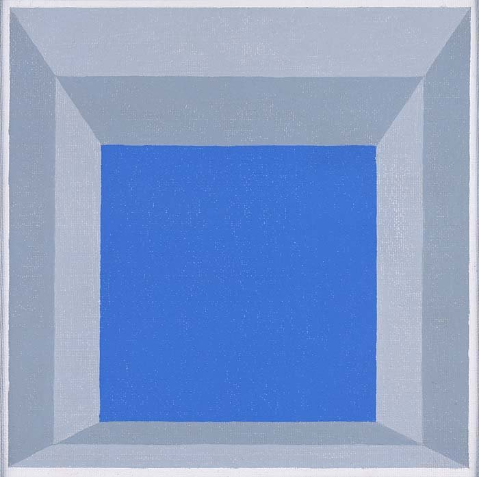 <strong>Josef Albers</strong>, <em>Study for Homage to the Square: High Sky, Light Framed</em>, 1970