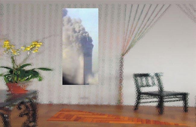 <strong>Lucas Samaras</strong>, <em>Flower Chair Burn 3</em>, 2003