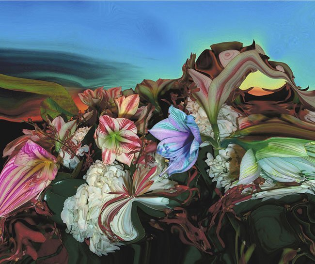 <strong>Lucas Samaras</strong>, <em>Sunset Bouquet 1</em>, 2003