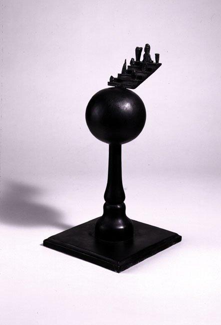 <strong>Mimmo Paladino</strong>, <em>Stele Sferica con Piccoli Elementi su Scala</em>, 1998