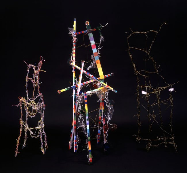 <strong>Lucas Samaras</strong>, <em>Wire Hanger Chair (Trio)</em>, 1989