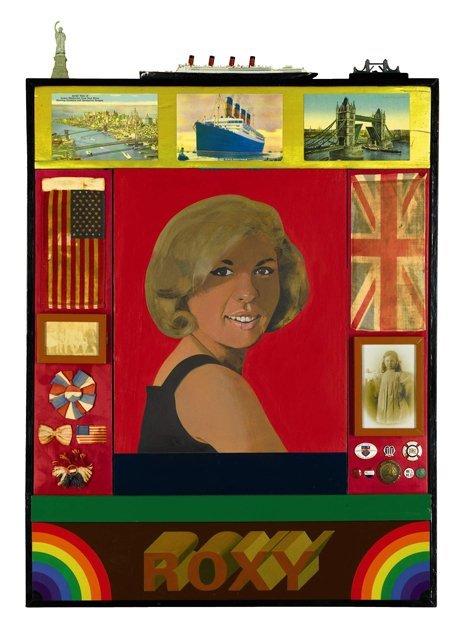 "<span class=""artist""><strong>Peter Blake</strong></span>, <span class=""title""><em>Roxy Roxy</em>, 1965-83</span>"