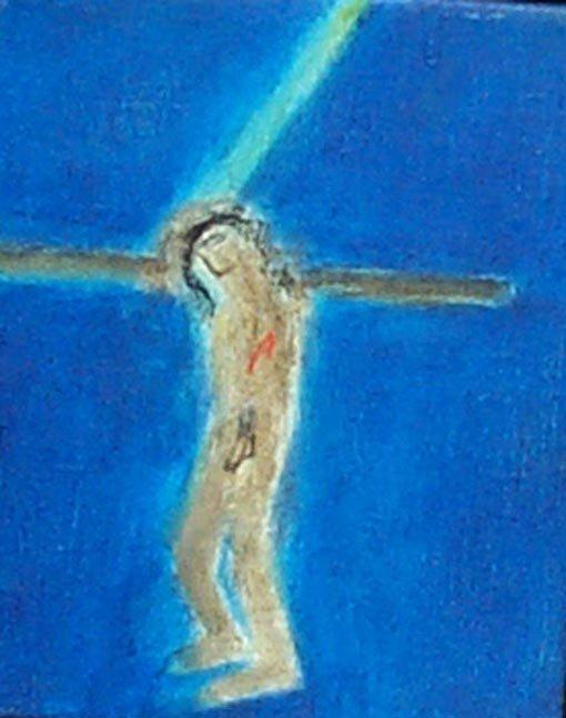 <strong>Craigie Aitchison</strong>, <em>Crucifixion I (T002262)</em>, 2001