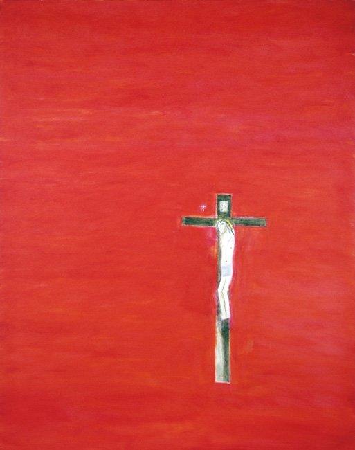 <strong>Craigie Aitchison</strong>, <em>Crucifixion Montecastelli (T002319)</em>, 2001
