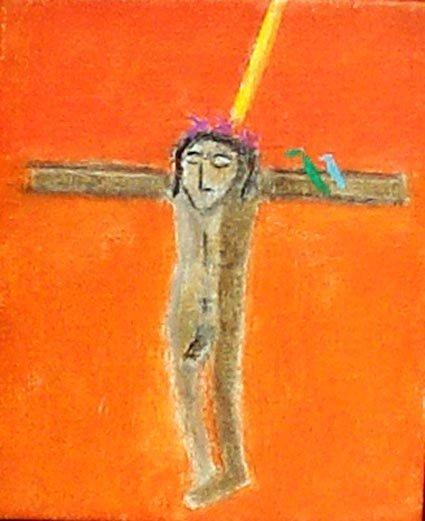 <strong>Craigie Aitchison</strong>, <em>Crucifixion with Birds II (T002263)</em>, 2001