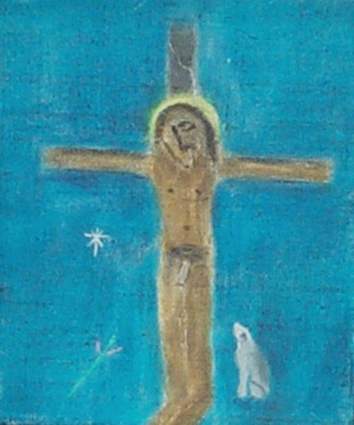 <strong>Craigie Aitchison</strong>, <em>Crucifixion with Dog III (T002264)</em>, 2001