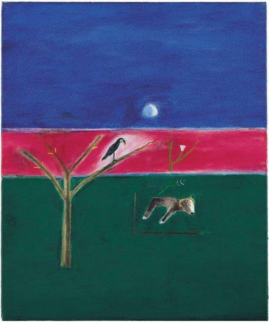 <strong>Craigie Aitchison</strong>, <em>Dead Sheep</em>, 2001