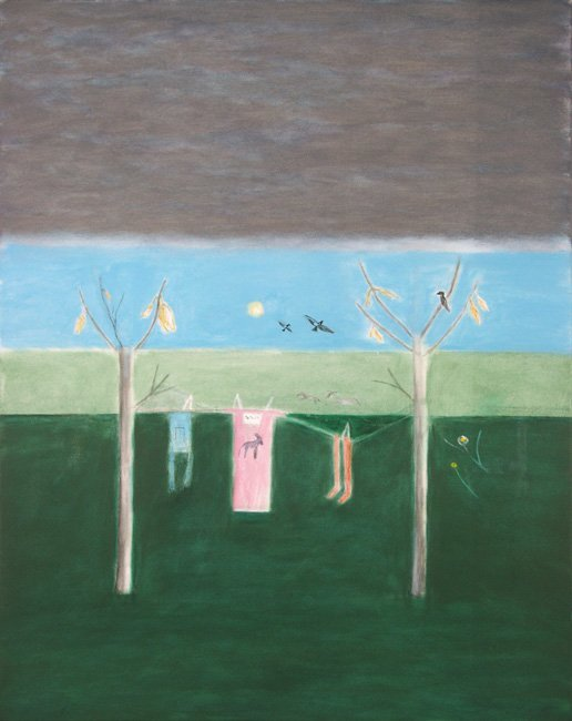 <strong>Craigie Aitchison</strong>, <em>Winter Washing Line, Montecastelli</em>, 2001