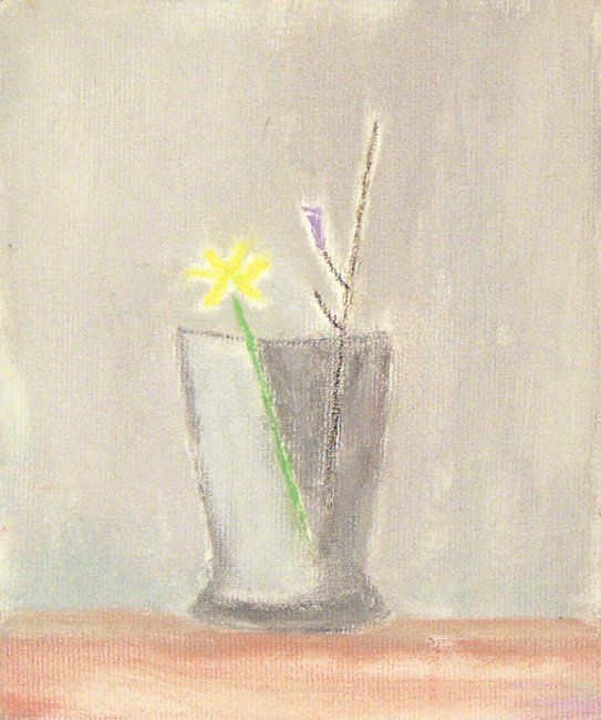 <strong>Craigie Aitchison</strong>, <em>Glass and Flowers Montecastelli</em>, 2001
