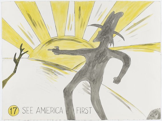 <strong>H. C. Westermann</strong>, <em>See America First (Untitled #17)</em>, 1968