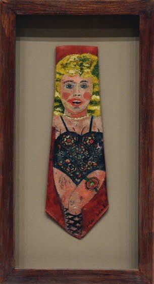 "<span class=""artist""><strong>Peter Blake</strong></span>, <span class=""title""><em>Tie</em>, 1953–55</span>"