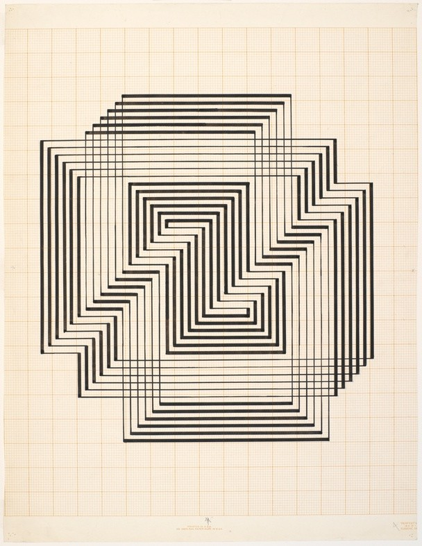 <strong>Josef Albers</strong>, <em>Study for Graphic Tectonic (JAAF 1976.3.109)</em>, c.1941-42