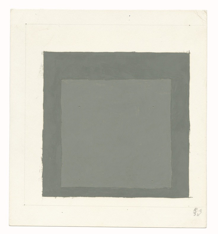 <strong>Josef Albers</strong>, <em>Study for a Homage to the Square (JAAF 1976.2.1434)</em>, c.1962-69